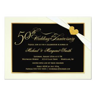 50.o Invitaciones blancas de la cinta del Invitación 11,4 X 15,8 Cm