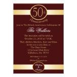 50.o Invitaciones de la fiesta de aniversario Comunicado Personal