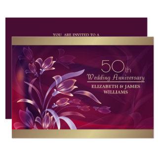 50.o Invitaciones de la fiesta de aniversario del Invitación 12,7 X 17,8 Cm