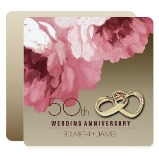 50.o Invitaciones de la fiesta de aniversario del Invitación 13,3 Cm X 13,3cm