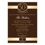 50.o Invitaciones de la fiesta de aniversario en B Anuncio Personalizado