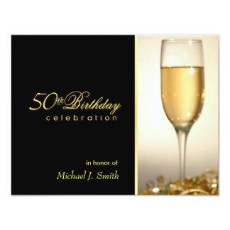 50.o Invitaciones de la fiesta de cumpleaños - Invitación 10,8 X 13,9 Cm