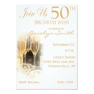 50.o Invitaciones de la fiesta de cumpleaños Invitación 12,7 X 17,8 Cm