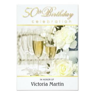 50.o Invitaciones de la fiesta de cumpleaños - Invitación 12,7 X 17,8 Cm
