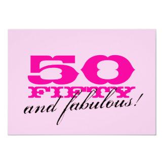 50.o Invitaciones de la fiesta de cumpleaños para Invitación 12,7 X 17,8 Cm