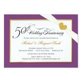 50.o Invitaciones del aniversario de boda - Invitación 11,4 X 15,8 Cm