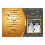 50.o Invitaciones del aniversario de boda Comunicado Personalizado