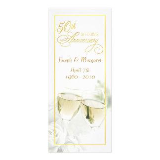 50.o Invitaciones del aniversario de boda - altas  Comunicado Personalizado