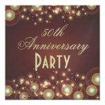 50.o Invitaciones del aniversario de boda Invitación 13,3 Cm X 13,3cm