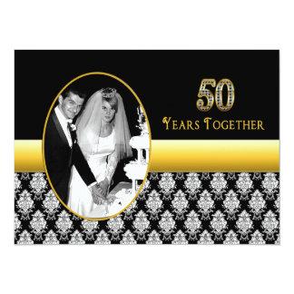 50.o Invitaciones del aniversario de boda Invitación 13,9 X 19,0 Cm
