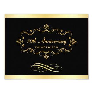50.o Invitaciones del aniversario - negocio Invitación 10,8 X 13,9 Cm