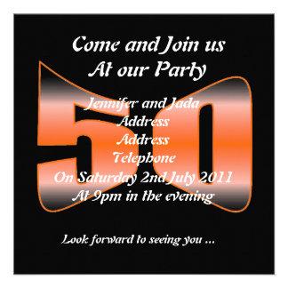 50.o Invitaciones del cumpleaños Invitación
