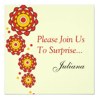 50.o Invitaciones del fiesta de sorpresa Invitación 13,3 Cm X 13,3cm