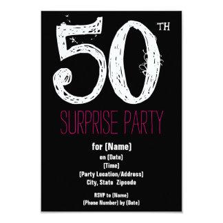 50.o Invitaciones del papel de fiesta de Invitación 8,9 X 12,7 Cm