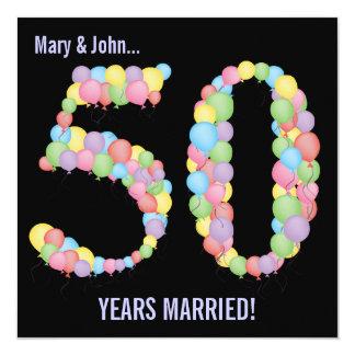 50.o La fiesta de aniversario hincha la invitación