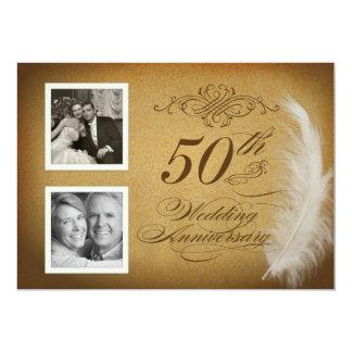 50.o La foto de la pluma 2 del vintage del Invitación 12,7 X 17,8 Cm