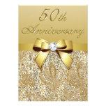50.o Lentejuelas y arco del aniversario de boda de Comunicado Personalizado