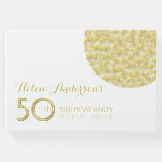 50.o libro de visitas de la fiesta de cumpleaños