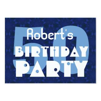 50.o modelo azul moderno Y258 de la fiesta de Invitación 11,4 X 15,8 Cm