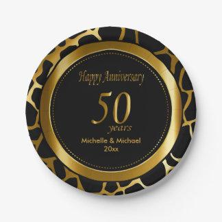 50.o Modelo de la jirafa del aniversario de boda Plato De Papel