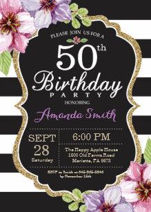 Cumpleanos 50 Anos Mujer Invitaciones