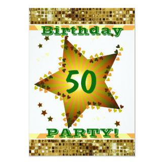 50.o O cualquier invitación de la fiesta de