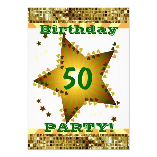 50.o O cualquier invitación de la fiesta de cumple