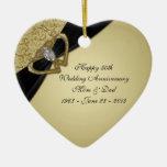 50.o Ornamento del aniversario de boda Adorno De Reyes