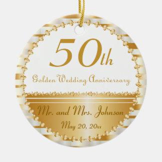 50 o Ornamento personalizado del aniversario de Ornamentos Para Reyes Magos