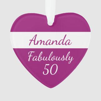 50.o Ornamento rosado fabulosamente 50 del