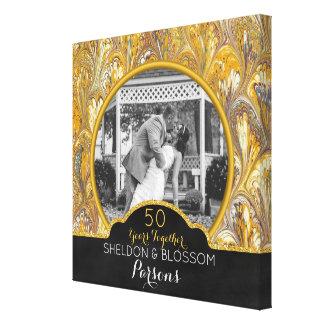 50.o Oro de la foto del aniversario de boda 50 Lienzo