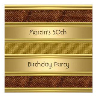 50 o oro elegante de Snakeskin de la fiesta de cum Invitacion Personal