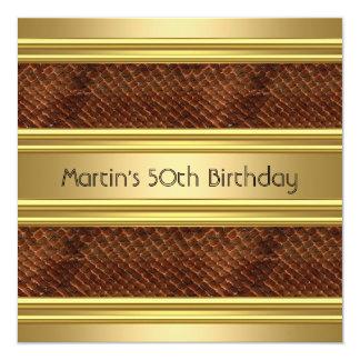 50.o oro elegante de Snakeskin de la fiesta de Invitación 13,3 Cm X 13,3cm