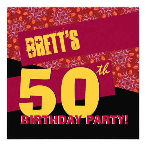 50.o Oro negro rojo moderno G33A de la fiesta de c Anuncios
