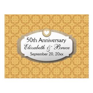 50.o Oro Z05 del aniversario de boda del Postal