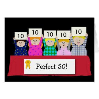50.o Personalizable del cumpleaños Tarjeta De Felicitación