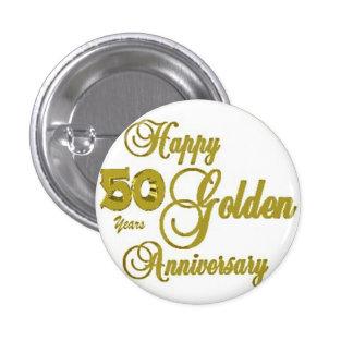 50.o Pin feliz del aniversario Chapa Redonda De 2,5 Cm