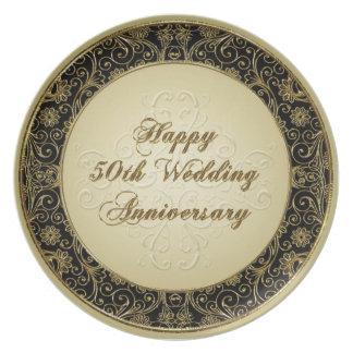 50.o Placa del aniversario de boda Platos