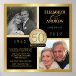 50.o Poster cuadrado del aniversario - 2 fotos