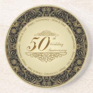 50.o Práctico de costa del aniversario de boda Posavasos Diseño