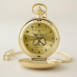 50.o reloj de bolsillo religioso del aniversario