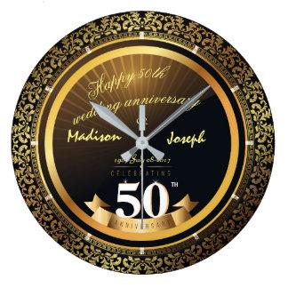 50.o reloj de oro de lujo del ornamental del