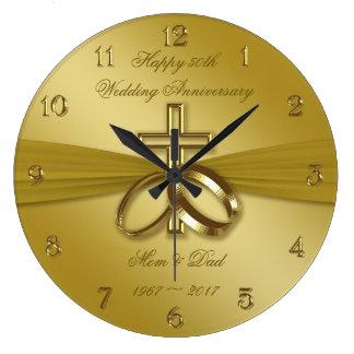 50.o reloj de oro religioso del aniversario de