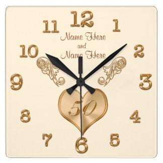 50.o reloj elegante del aniversario de boda con