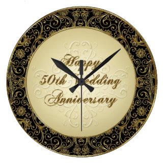 50.o reloj feliz del aniversario de boda