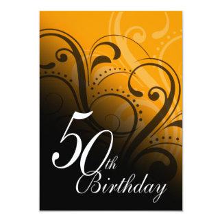 50.o Remolino de la fiesta de cumpleaños Invitación 12,7 X 17,8 Cm