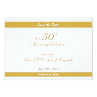50.o Reserva del cumpleaños/del aniversario las Invitación 12,7 X 17,8 Cm