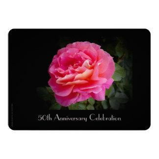 50.o Rosa de la invitación de la celebración del