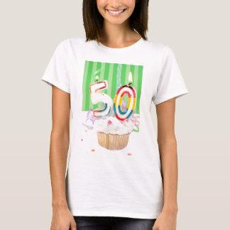50.o saludo de la fiesta de cumpleaños camiseta