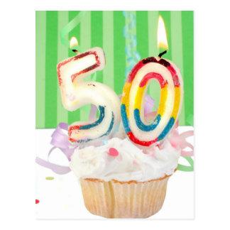 50.o saludo de la fiesta de cumpleaños postal